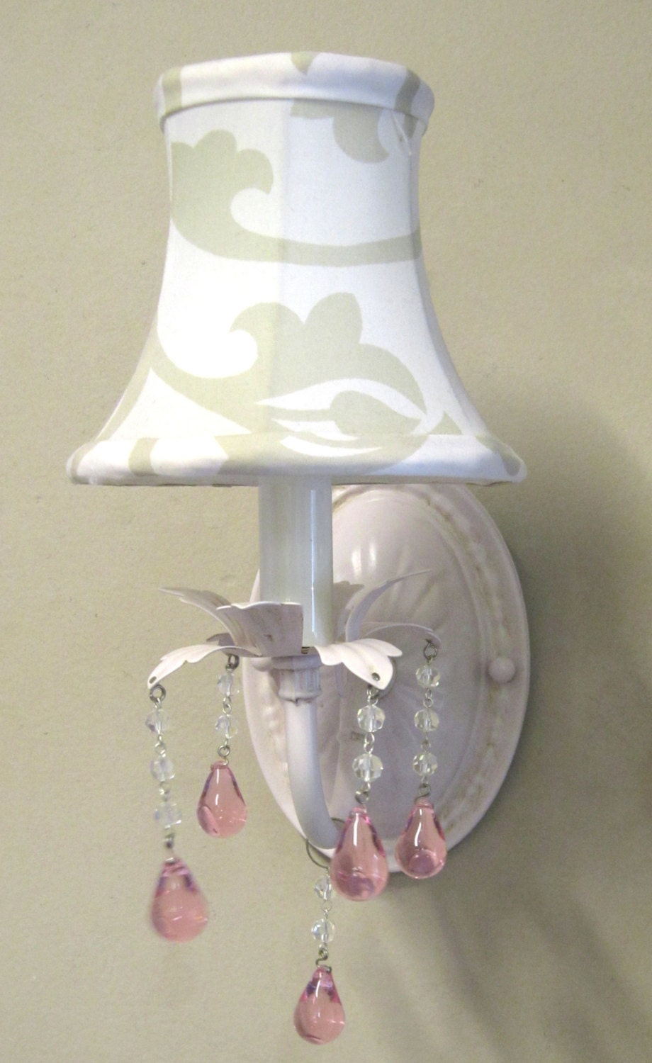 Wall Sconces Shabby Chic : Pair of Pink Wall SCONCES very Shabby Chic