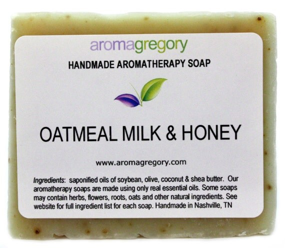 Oatmeal Milk and Honey Soap Natural handmade soap with real