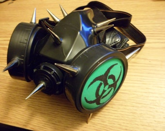 Rave Gas Mask with Spikes