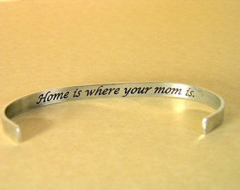 Hand Made jewelry Bracelet ...Home is where your Mom is