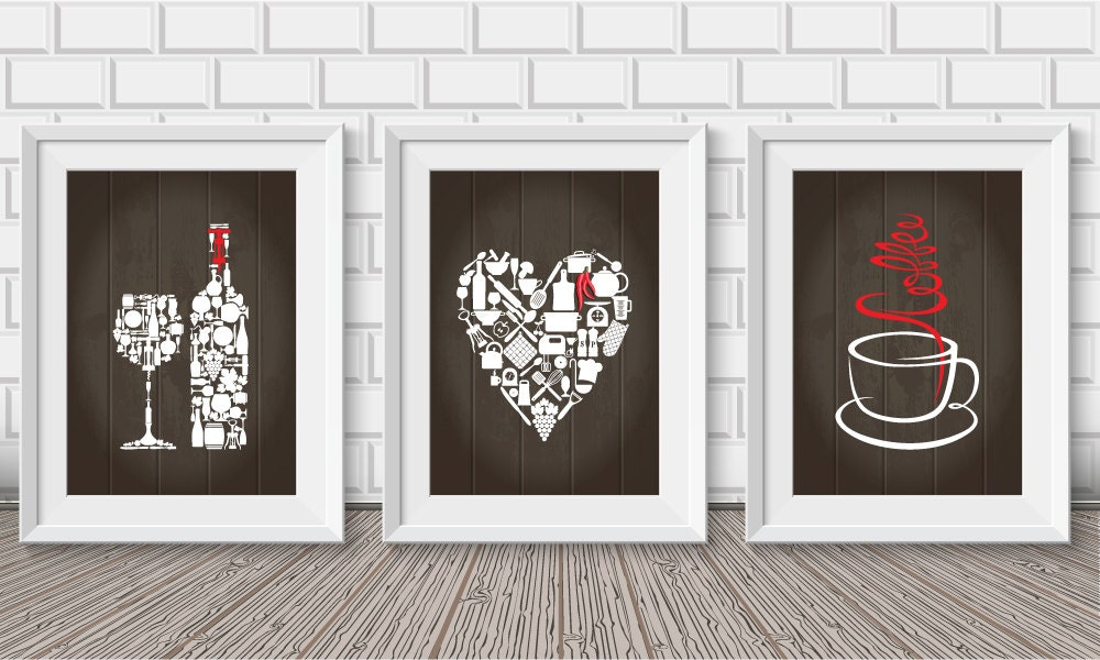 Kitchen Wall Decor Paintings : Kitchen decor wall art prints by blackpelican
