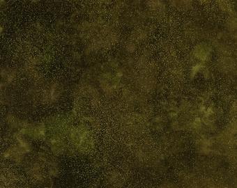 Timeless Treasures Shimmer Blender Fabric in Olive 613
