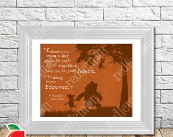 The Wisdom of Pooh Sentiment Nursery Print Brown