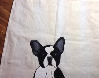 Bag with a french bulldog