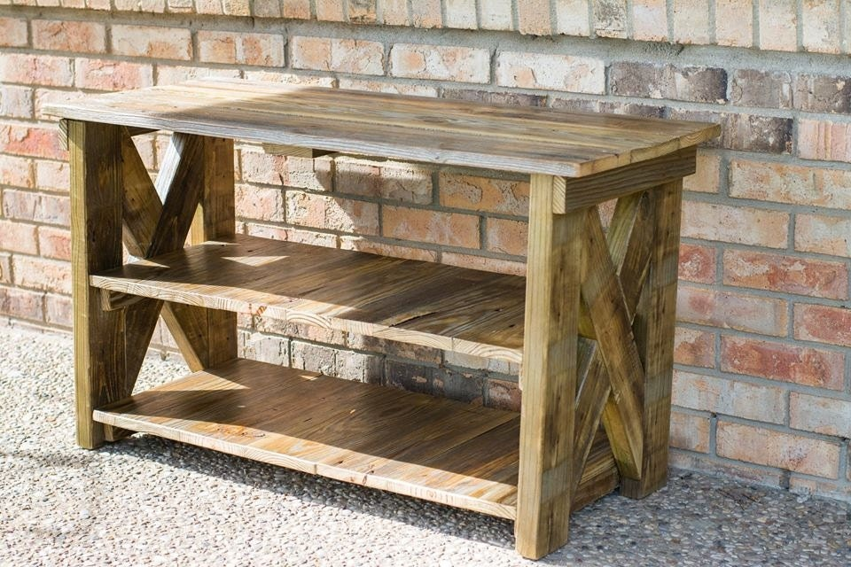 Reclaimed TV Stand. Made From Reclaimed Barn and by BeRusticCo