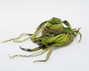PHYLAD scarf - Olive and lime