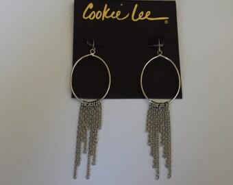 vintage Cookie Lee Hoop Earrings. FREE SHIPPING to U.S.