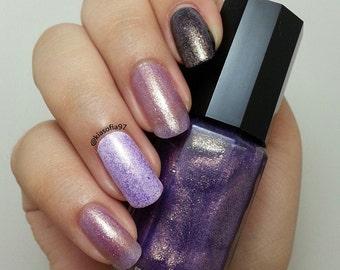 Purple Nail Polish, Shimmer Nail Polish, Indie Nail Polish, Glitter Nail Polish, Gift for Her, Handmade Nail Polish, Shakespeare