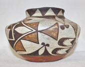 248. Native America Small Acoma Pottery Polychrome Olla