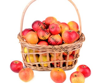 Decorative Ceramic Tile Sublimation - KN_0023 - Apples in a basket