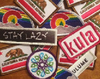 California or Colorado Patches