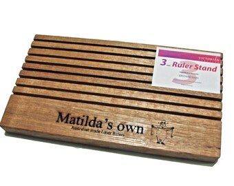 Matildas Own Wooden Ruler Stand for Patchwork and Quilting
