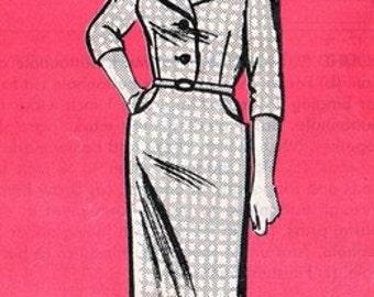 Mail Order 9033 Fine Portrait Collar Dress 1960's / SZ12.5 UNCUT