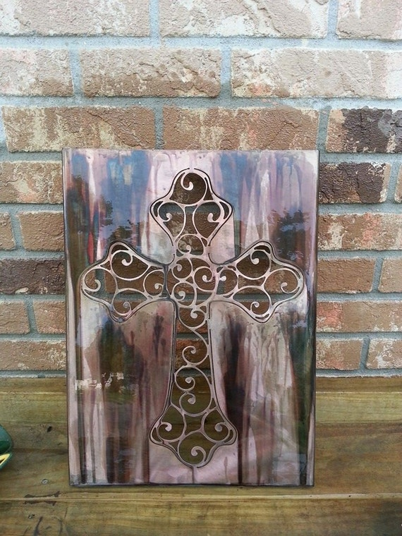 Steel Cross Wall Art, Spiritual, Faith, Religion, Church, Made in USA, Christmas Gift, Birthday Gift, Family