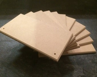 20 MDF Plaques/signs 150mm x 75mm x 9mm