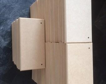 100 blank MDF Plaques  200mm x 100mm x 9mm