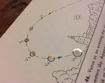 Gold Vintage Astronomy Print -- Figure 46
