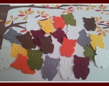 150 Choice of Color(s) Autumn OWL Die Cut Mix ~ Owl confetti ~ Owl die cuts confetti scrapbooking embellishments birthday confetti