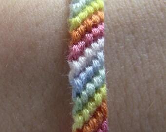 Fading Rainbow Friendship Bracelet
