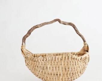 Newborn Prop Vintage Wicker Half Basket