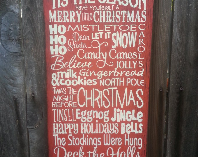 Christmas Sign, Christmas Decor, holiday Sign, christmas words Sign, holiday decor, seasonal decor, holiday sign, 145