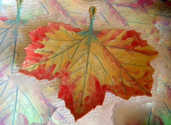Ceramic Maple Leaf Autumn
