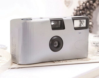 Set of 15 Disposable Silver Cameras - Party Favor - Metallic Silver Cameras - Silver - Wedding Favors - Photo Booth - Party - Single Use