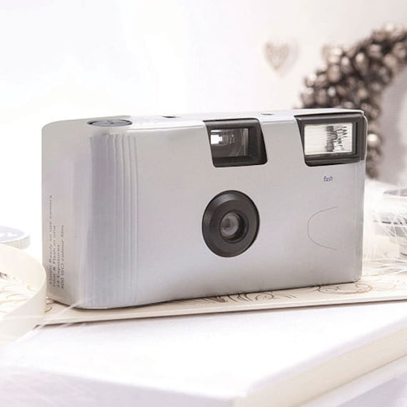10 Disposable Cameras Wedding Favor Metallic Cameras