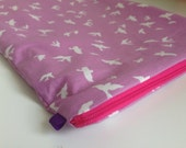 Make up bag/iPad sleeve/nappy bag 'Birds' (different sizes available)