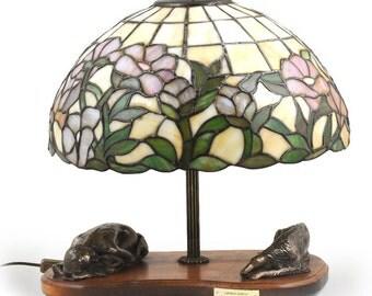 Borzoi, dog lamp statue, tiffany shade, limited edition, ArtDog