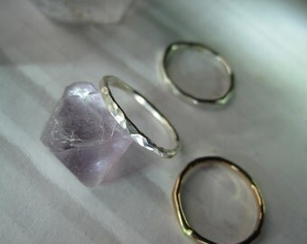 sterling silver and gold fill stacking rings