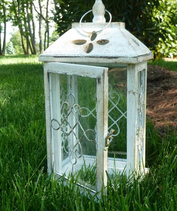 lanterne blanche mariage pi ce ma tresse th lumi re bougie. Black Bedroom Furniture Sets. Home Design Ideas