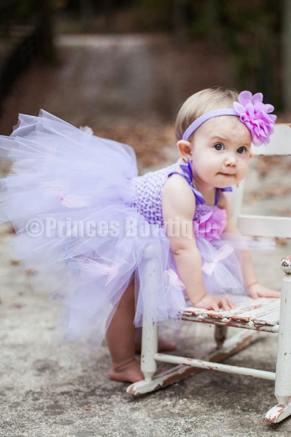 Baby Tutu Dress Bliss Lavender and Pink Tutu Dress and