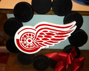 Hockey Puck Wreath