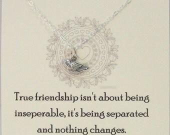 True Friendship,Friend,Friendship Necklace,Friends,Necklace,Charm,Sparrow,Minimalist,Simp,Bird,Bird Necklace,Silver Bird,