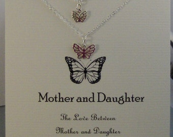Butterfly Mother Daughter,Mother Daughter,Mother Daughter Neckalce,Butterfly Necklace,Butterfly,Mom Neckalce,Mother,Butterfly Jewelr,