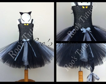 Halloween Black Cat tutu dress costume (Handmade) Party, Dress up, Fancy dress