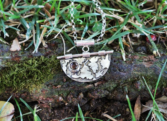 Handmade Sterling Silver Map Inspired Necklace