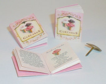 Miniature Cupcake Cookbook (double sided printed pages, with illustrations)