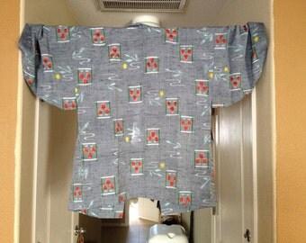 2 for one!  Kosode meisen haori and kimono set
