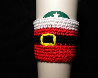 Santa's Coffee Cozy Crochet Pattern
