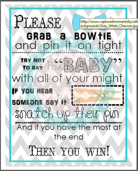 bowtie baby shower game by polkadotsandprints on etsy