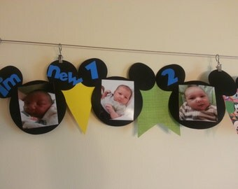 Mickey Mouse 1st Birthday Banner
