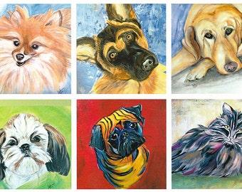 Hand Painted Canvas Art by Les ~ Pet Portraits ~ Your Pet Painted on Canvas
