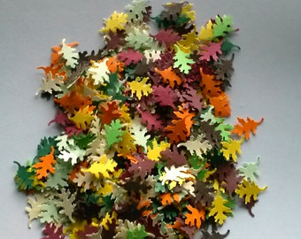 Autumn fall leaves confetti