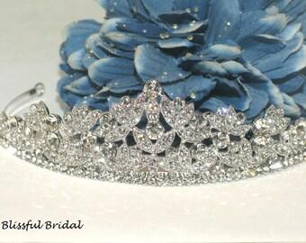Crystal Wedding Tiara, Bridal Crystal Headpiece, Crystal Wedding Crown, Crystal Tiara, Crystal Crown, Crystal Headpiece