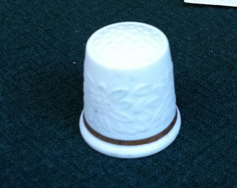 White Porcelain Thimble by Langenthal Swiss China Works