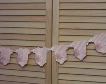 Onesies Banner, Hand Made Garland, Pink Onesies Banner, Pink Onesies Garland, Nursery Banner, Garland