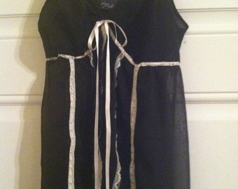 Sheer Black Nighty - Size Small
