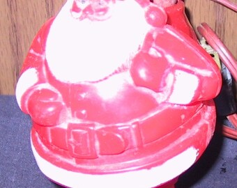 Small Vintage Lighted Plastic Santa Claus
